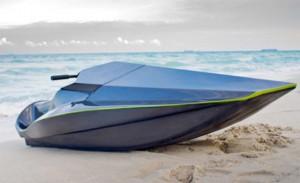Electric carbon fiber jetski looks like James Bond's vehicle of choice