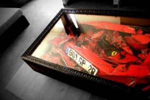Legacy Of Pain: The Crashed Ferrari Coffee Table