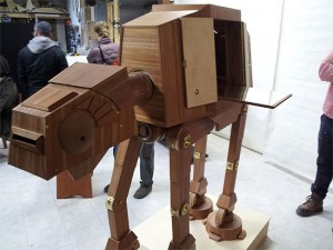Stash booze in this AT-AT liquor cabinet before the Rebels come