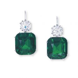 Emerald Ear Pendants Set Record at Christie's Auction