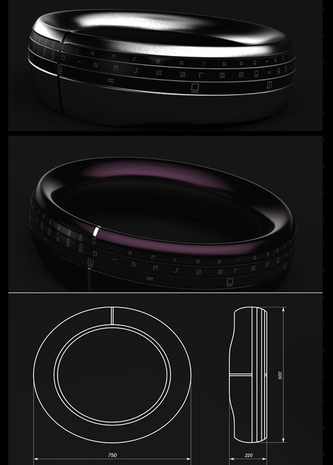 Round-the-Clock Bracelet Watch Concept