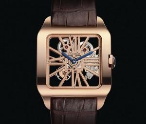 Cartier Santos-Dumont Skeleton Rose Gold