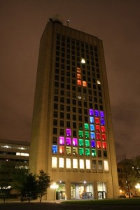 Tetris takes over MIT building in case of hack as high art (video)