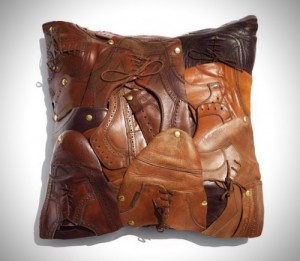 Haven't You Always Wanted A $1,200 Throw Pillow Made From Old Shoes?