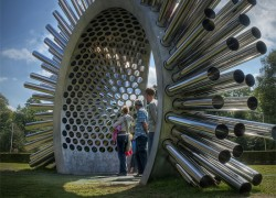 This giant, spiky stargate is really a huge musical instrument