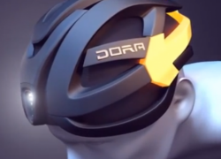 DORA bike helmet comes with built-in turn indicators