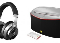 Logic3′s Ferrari-branded headphones and speakers make their stateside debut, no license required to rock