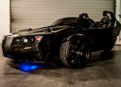 Fit for a crime fighter: Three-wheeled electric 'Batmobile'