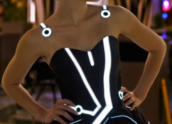 Tron-inspired prom dress