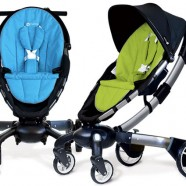 High-tech baby stroller transforms at the push of a button