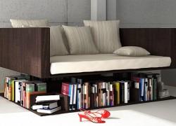 Ransa Sofa Floats Over A Shelf
