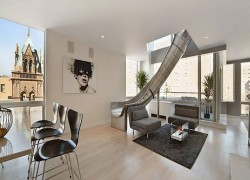 A $4 million apartment means you can have a slide if you want