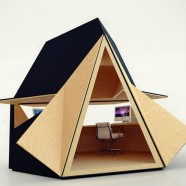 Tetra-Shed is the cubicle for only the coolest office drones